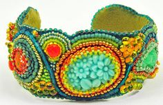 Happy Go Lucky Cuff Kit With April/May issue of Beadwork Magazine via Etsy