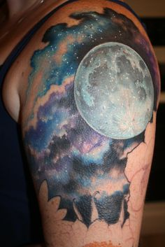 Amazing night sky tattoo!