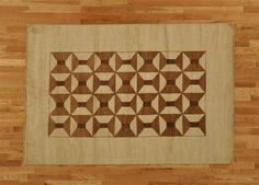 Hand Knotted Beige & Sepia Brown Modern Gabbeh Area Rug (5'8'' x 8'3'') via 1800 Get A Rug