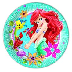 Little mermaid paper plates available online from MiParty.Online  sc 1 st  Pinterest & Napkins: Disney Little Mermaid Napkins - 2ply Paper Party Napkins ...