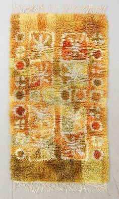 MATTA, rya, Berga Ullspinneri, 176 x 98 cm. Rya Rug, Wool Rug, Textiles, Ribbon Work, Punch Needle, Rug Hooking, Floor Rugs, Rugs On Carpet, Vintage Rugs