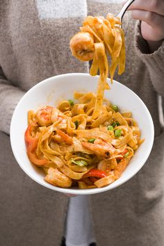 Sriracha Shrimp with Noodles