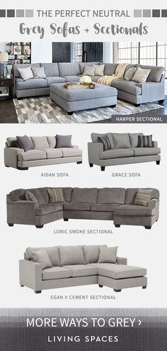 Grey Sofas U0026 Sectional Sofas Are The Perfect Neutral Piece For Any Living  Room. From