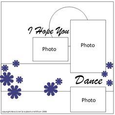 Prom Scrapbook Page Idea Using Die Cut Flowers: Prom Scrapbook Page Idea Free Sketch