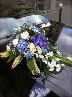 fleuriste mariage, décor voiture, vanda par l'Atelier de l Éphémère