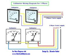 How to Wire Voltmeters For 3 Phase Voltage Measuring ~ Electrical Online 4u - Electrical Tutorials