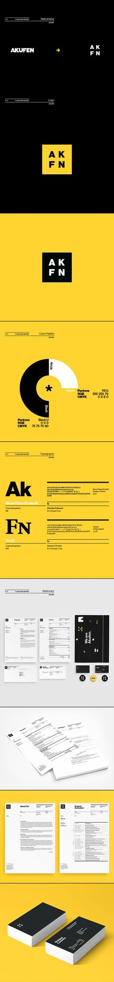 Akufen branding by Etienne Vles, via Behance. If you like UX, design, or design thinking, check out theuxblog.com