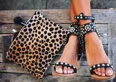 leopard studed wedges #WITCHERYSTYLE