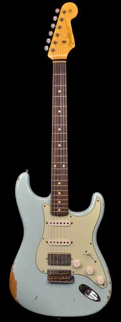 Fender 1962 Rosie V Neck Carve Heavy Relic Stratocaster Faded Sonic Blue HSS