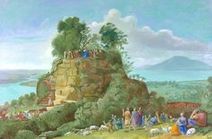 """""""The Sermon on the Mount II (After Claude)"""" by David Hockney"""