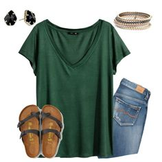 I love how simple this is, and casual. I wear something similar to this almost every week! This seems more polished. I need more neutral accessories to jazz up my solid Ts.