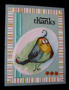 Crazy Bird Thanks by LasSuziq - Cards and Paper Crafts at Splitcoaststampers