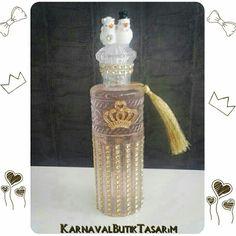 Kolonya şişesi süsleme