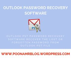 Outlook PST Password Recovery Software is an excellent tool that recovers the lost or forgotten PST file password. This PST Password Recovery Software displays the recovered password in text format and stores the recovered password to file or clipboard.