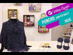 Aprenda a fazer um Poncho com Vitória Quintal - YouTube Facebook, Youtube, Pullover, Knitting, Videos, Winter Poncho, Wool Sweaters, Knitting And Crocheting, Knitting Charts