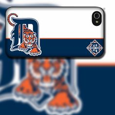 Detroit Tigers Inspired Design on iPhone 4 / 4s / 5 / 5s / 5c / 6 Rubber Silicone Case by EastCoastDyeSub on Etsy https://www.etsy.com/listing/112955511/detroit-tigers-inspired-design-on-iphone