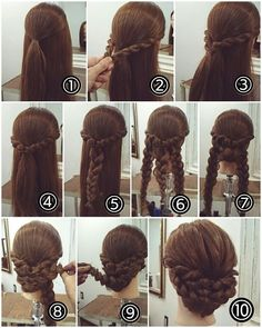 In case you are unsure about your coiffure, you might be in the suitable place. Recent Coiffure .com Get the Recent Newest, and Stylish Ideas About Braid Coiffure for Brown Hair Please don't Celebrity Hairstyles, Braided Hairstyles, Wedding Hairstyles, Cool Hairstyles, Braided Updo, Bridesmaid Hair, Prom Hair, Fresh Hair, Hair Hacks
