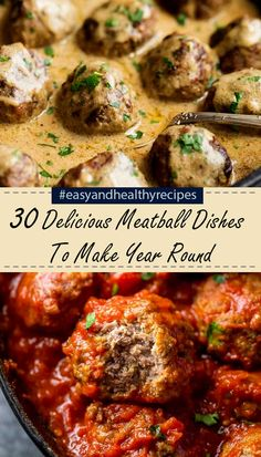 30 Delicious Meatball Dishes – Page 2 – Easy Family Recipes Lunch Recipes, Meat Recipes, Chicken Recipes, Dinner Recipes, Cooking Recipes, Healthy Recipes, Beef Dishes, Food Dishes, Main Dishes