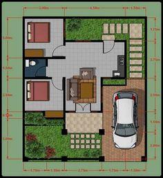 Desain 3D Rumah Type 45