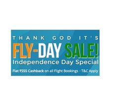Paytm is offering Independence Special Flights Offer Get Flat Rs.555 Cashback on Flight Tickets Booking How to catch the offer: Click here for offer page Book Flight Tickets Apply offer code FLYDAY Valid 5 times per User Rs.555 Cashback will be credited within 24 hours of the booking