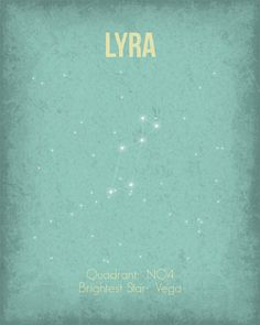 Constellation+Poster++Lyra++Wall+Art+Print++by+GetYourNerdOn,+$20.00