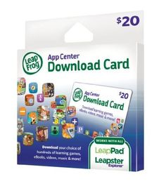 2 free leap pad app codes, plus discounted card!