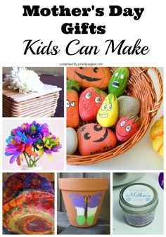 Mother's Day Gifts Kids Can Make for Mom! All moms love receiving homemade gifts from their kids. There's a little something here for everyone!