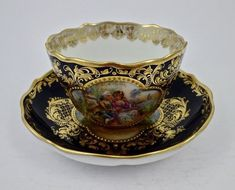 Antique Lamm Dresden Demitasse Cup & Saucer by yvette Tea Cup Set, Cup And Saucer Set, Tea Cup Saucer, Tea Sets, Antique Tea Cups, Vintage Cups, Teapots And Cups, Teacups, China Tea Cups