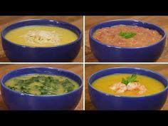 Sopa de mandioquinha 4 jeitos - YouTube Recipies, Curry, Ethnic Recipes, Desserts, Barefoot Contessa, Food, Youtube, Winter Recipes, Soups