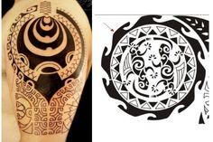 Wellen Muster oft in den Maori Tattoos eingebettet