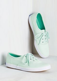 Very Important Skate Sneaker in Seafoam. Being late isnt an option when youre this pumped to kick and push in these pastel mint Keds. #mint #modcloth