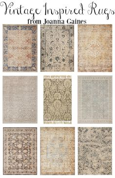 Vintage Inspired Rugs from Joanna Gaines. Farmhouse style area rugs for every room in your home.