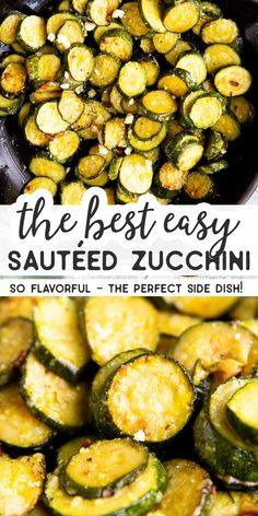 Make this Easy Sautéed Zucchini when you need a simple and healthy side dish the whole family will enjoy. It's quick to whip up and so flavorful – and you can add parmesan cheese to make it even more delicious! I love having lots of options for easy veget Zucchini Side Dishes, Easy Vegetable Side Dishes, Healthy Side Dishes, Vegetable Sides, Veggie Dishes, Side Dish Recipes, Food Dishes, Simple Vegetable Recipes, Vegetables