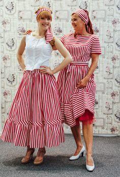 Kleid , Rock & Bluse nach Original 50er Jahre Schnittmuster genäht
