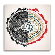 Modernize your space with this oversized giclee canvas art piece. The bold organic lines make it a versatile addition to any space.