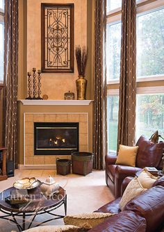 Relaxing by the fire never looked so good #interiordesign #decor
