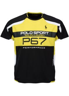 Polo Sport: This micro-dot jersey T-shirt is enhanced with ThermoVent technology for high-speed evaporation and body-mapped panels for freedom of movement.