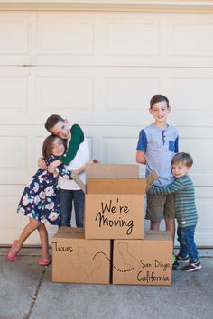 Cute military moving announcement photo!
