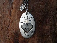 Valentine Jewelry Silver Heart Necklace Winter by AnnalisJewelry, $70.00