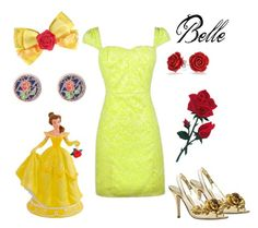 """DIY Belle Costume"" by lilyboutique ❤ liked on Polyvore featuring Disney, Bling Jewelry, Halloween and LilyBoutique"