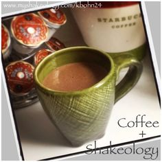 By far the best shake I've made! 1scp Shakeology, 1/2c coffee, 1/2c milk, 3 ice cubes, 1 tbs pb... Out of this world!