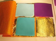 Apply Silver Leaf, Copper Leaf or Gold Leaf to Some or All of the Polymer Clay Sheets