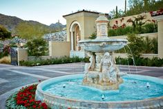 Motor Court w/ Fountain - Italian villa in Scottsdale, Arizona