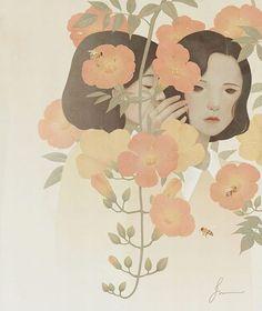 2,708 個讚,15 則留言 - Instagram 上的 Jiwoon Pak(@jiwoon_pak):「 눈먼 사람들의 비밀 #illustration #jiwoonpak #painting 」
