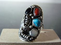 Vintage Silver Native American Gemstone by FourSailAccessories, $38.00