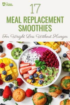 17 Meal Replacement Smoothies For Weight Loss Without Hunger.  Here is a delicious collection of meal replacement smoothies for weight loss without hunger.