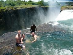 Devil's Pool at Victoria Falls, Zambia Most Beautiful, Beautiful Places, Beautiful Pictures, Victoria Falls, Summer Sun, National Parks, Places To Visit, Around The Worlds, Earth