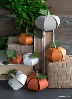 DIY Paper Pumpkin by lia griffith | Project | Home Decor | Papercraft / Decorative | Holiday | Kollabora