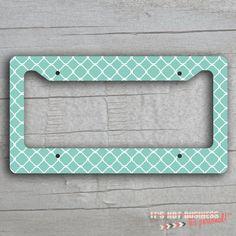 License Plate Frame - Quatrefoil Chevron Leopard Stripes Design on Etsy, $18.00