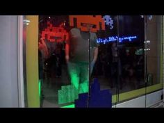 Interactive Shopping Window - Space Invaders - YouTube